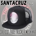 SANTACRUZ/サンタクルズ CALI DOT FADE TRUCKER MESH HAT BLACK CAP/キャップ HAT/ハット 帽子