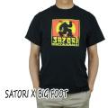 SATORI/サトリ SATORI MOVEMENT CLASSIC BIG FOOT S/S TEE BLACK Tシャツ T-shirts 半袖 丸首 [返品、交換及びキャンセル不可]