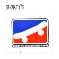 SHORTYS/ショーティーズ SKATE ICON STICKER/ステッカー 6cm[返品、交換及びキャンセル不可]