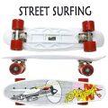 STREET SURFING/ストリートサーフィン PLASTIC CRUISER BEACH BOARD WORLD WAR 2 ミニクルーザー スケートボード/スケボー 6.1x21.6 ミニ ショート SK8   [返品、交換及びキャンセル不可]