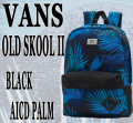 VANS/バンズ ヴァンズ OLD SKOOL 2 BACKPACK BLACK AICD PALM 鞄 リュック バックパック