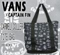 VANS/バンズ CAPTAIN FINコラボ CARMEL COLLER TOTE BAG BLACK 鞄 クーラー トート ビーチバッグ 保冷バッグ