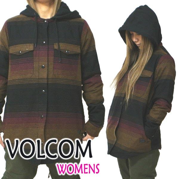 VOLCOM/ボルコム レディース用 HOODED FDLANNEL JACKET STP フード付き ジャケット VOLCOM 女性用 スノーボード用 20-21[返品、交換及びキャンセル不可]