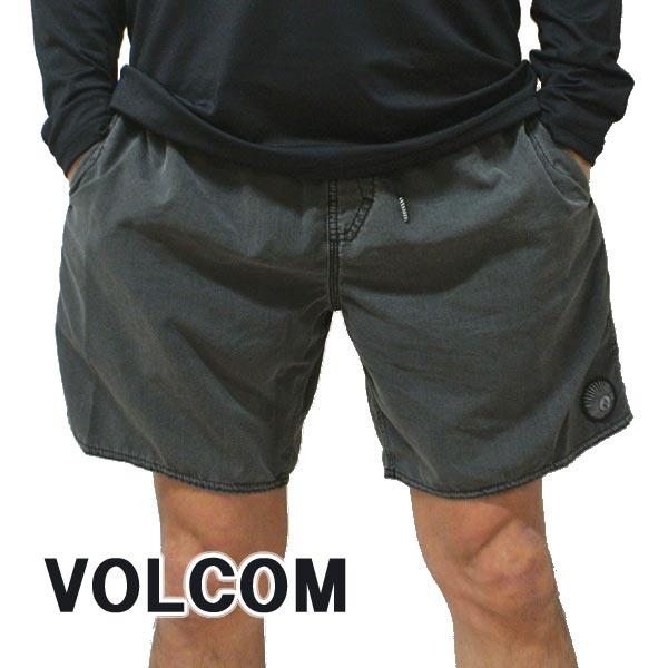 VOLCOM/ボルコム CENTER TRUNK 17 BOARDSHORTS BLK 男性用 サーフパンツ ボードショーツ メンズ 海水パンツ 水着 海パン MENS [返品、キャンセル不可]