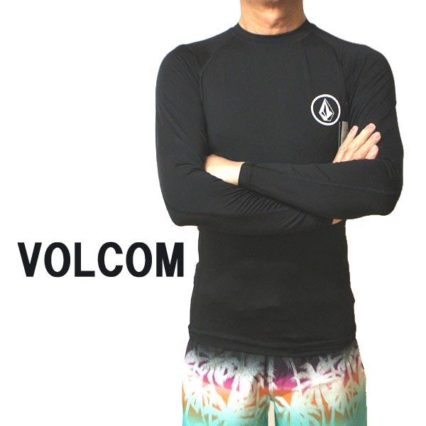 VOLCOM/ボルコム メンズ長袖ラッシュガード LIDO SOLID L/S RASHGUARD BLACK UPF50+ 男性用水着 UVカット 2020 [返品、交換及びキャンセル不可]