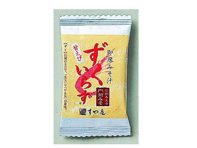 すや亀のインスタント味噌汁 ずくいらず甘えびパッケージ/善光寺 門前みそ すや亀