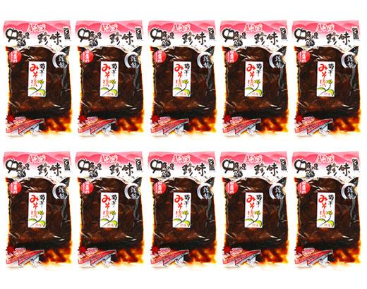 送料無料!! 菊芋味噌漬240g 香嵐渓珍味×10袋