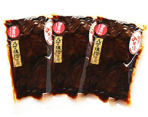 送料無料!! 八丁味噌使用香嵐渓菊芋味噌漬250g×3袋セット