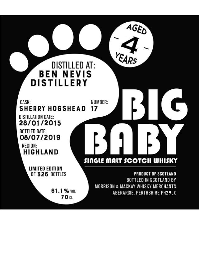 ビッグベイビー ベンネヴィス2015 シェリーホグスヘッド4年