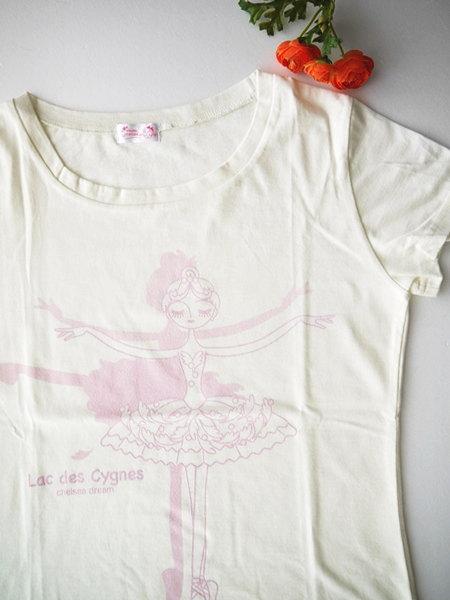 バレエ Tシャツ ラウンドネック 《オデット クリーム》