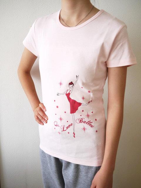バレエ Tシャツ BネックT《ILB シャーベットピンク ピンク》