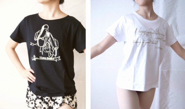バレエTシャツ ラウンドネックT (トウシューズ&ドリーム) サイズ ジュニア大人フリー160