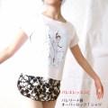 バレエTシャツ オーバーロックT (バレエファンタジー) サイズ ジュニア大人フリー160)【メール便可】 (JJ-057)soldout