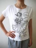 バレエ Tシャツ オーバーロックT 《ジゼル ホワイト》