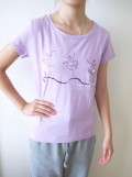 バレエ Tシャツ ラウンドネックT 《ILB パープル》