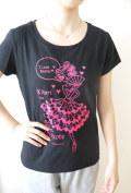 バレエ Tシャツ BネックT《chelsea ドンキホーテ ブラック》