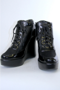 厚底スニーカー (黒) コスプレ靴 ブラック