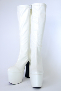 プレーンソフトブーツ 【白】コスプレブーツ ホワイト
