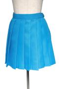 プリーツスカート/ブルー 青 S~LL /アパレル 4000-4-bl