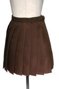 プリーツスカート/ブラウン 茶色 S~LL /アパレル 4000-4-bw