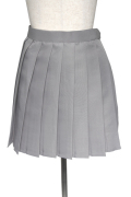 プリーツスカート/グレー 灰色 S~LL /アパレル 4000-4-gy