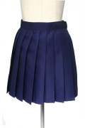 プリーツスカート/ネイビー 紺色 S〜LL /アパレル 4000-4-nv