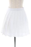 プリーツスカート/ホワイト 白 S〜LL /アパレル 4000-4-wh