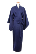 着物(帯付き)/ネイビー 紺 フリーサイズ/アパレル 4000-5-nv