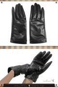 レザーグローブ 指あり /ブラック 黒 手袋 /アパレル 4000-9