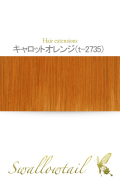 【キャロットオレンジ】毛束 ex-t2735