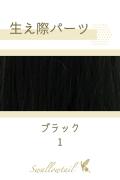 【ブラック】生え際パーツ 手植えレース生地毛束 fl-1