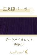 【ダークバイオレット】生え際パーツ 手植えレース生地毛束 fl-step20