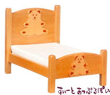 くまちゃんの子供用ベッド マットレス付き AZT6466
