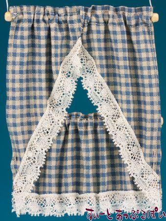【米国製】【バーバラさんのカーテン】 キッチンカーテン 2サイズセット カントリーブルー BB51603