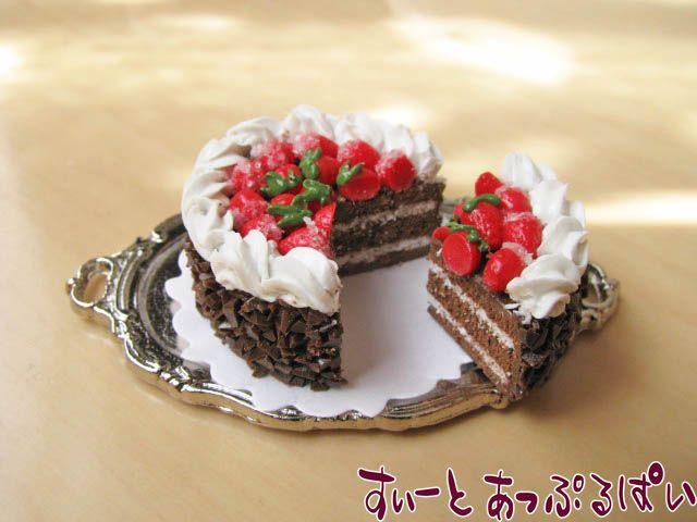 【切れてるケーキ】ストロベリーチョコ 25mm SMCK-21