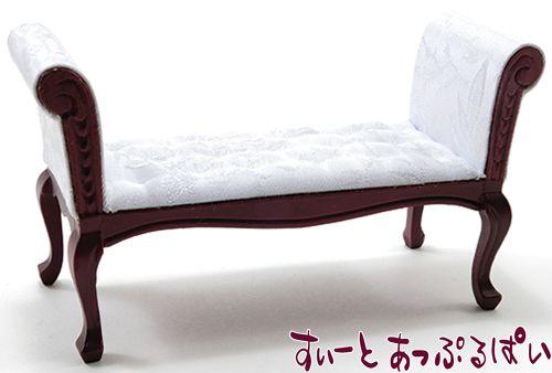 長椅子 ホワイトブロケード CLA10941