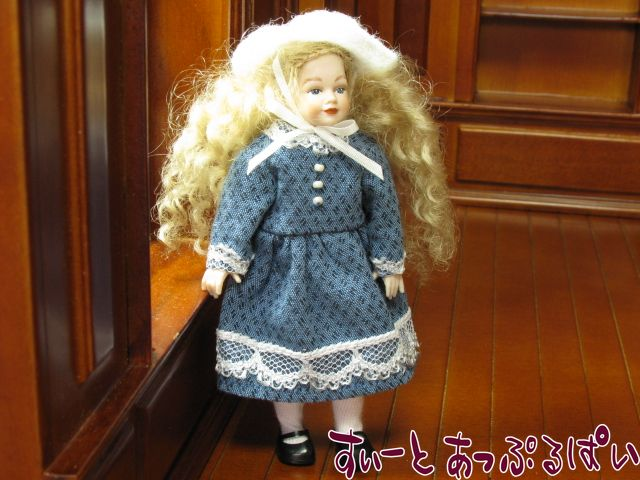 【Heidi Ott】 ハイジオットドール 少女 ブルードレス HO-XC02