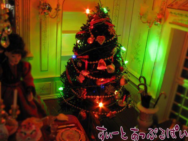 【3V電池式LED照明】 キラキラクリスマス☆カラフル点滅LED12球つきガーランド HKL-12CL