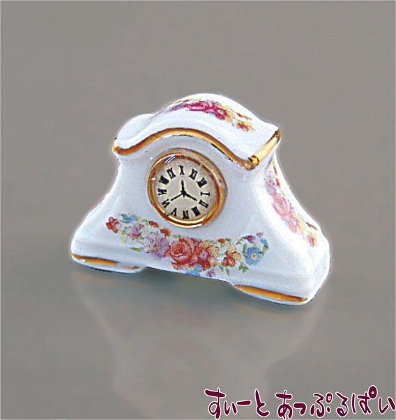 【ロイターポーセリン】 バラの置時計 RP1464-5