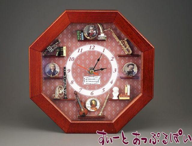 【ロイターポーセリン】 壁掛け時計 ミュージック RP1668-1