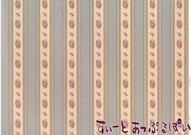 【1/24サイズ】【スペイン製】 ドールハウス用壁紙  WM24553