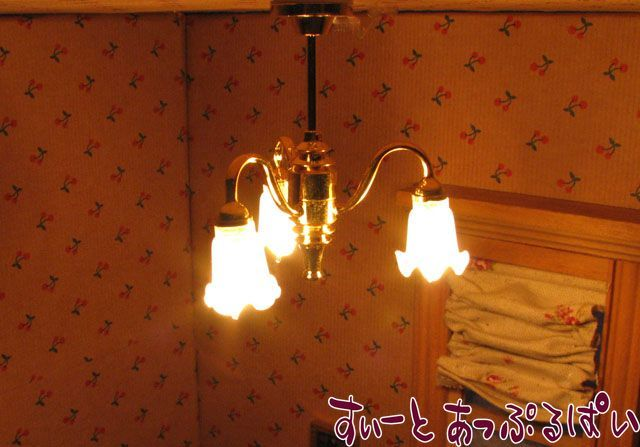 【12V照明】 シャンデリア ゆり3灯 YL6008 HO-786A9