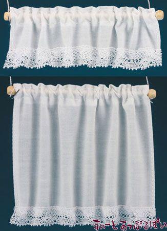 【米国製】【バーバラさんのカーテン】 コテージカーテン 2サイズセット ホワイト BB50402