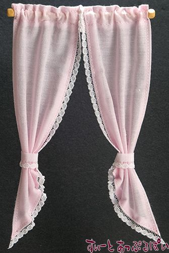 【米国製】【バーバラさんのカーテン】 デミカーテン ピンク BB52114