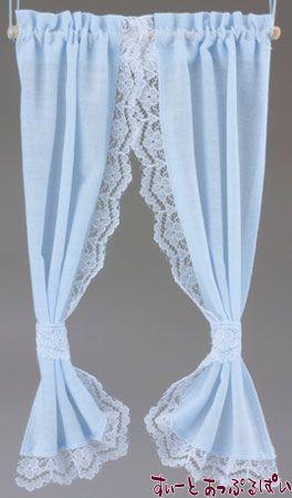 【米国製】【バーバラさんのカーテン】 タイバックカーテン ライトブルー BB55603