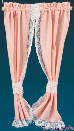 【米国製】【バーバラさんのカーテン】 タイバックカーテン ピーチ BB55604