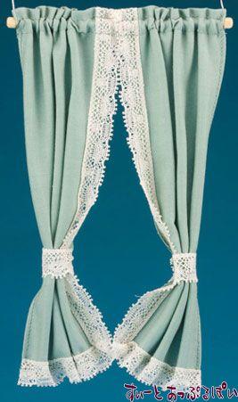 【米国製】【バーバラさんのカーテン】 タイバックカーテン カントリーグリーン BB55608