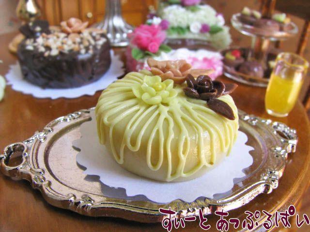 ホールケーキ 実りの秋のマロンケーキ 25mm SMCK-26