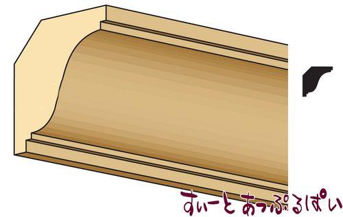 【1/24サイズ】 ドールハウス用パーツ クラウンモールディング CLA77967  NE967