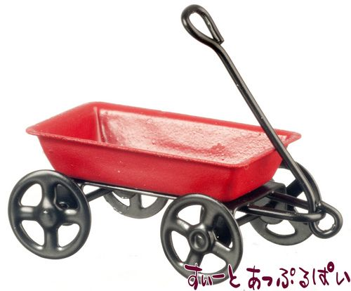 【1/24サイズ】 赤い小さなガーデンワゴン AZD6376  IM65385